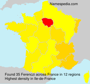 Surname Ferenczi in France