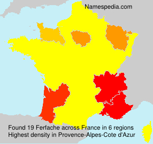 Surname Ferfache in France
