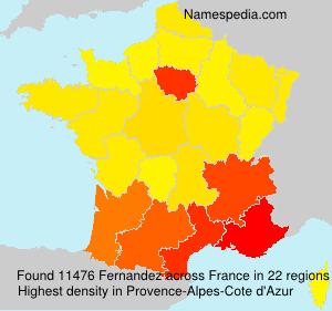 Familiennamen Fernandez - France