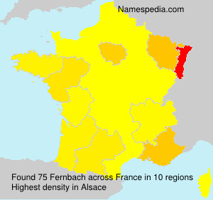 Surname Fernbach in France