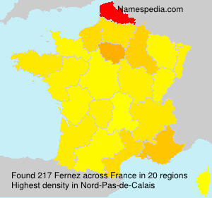 Surname Fernez in France