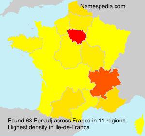 Surname Ferradj in France