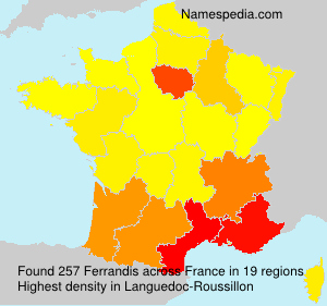 Surname Ferrandis in France
