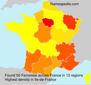 Surname Ferrarese in France