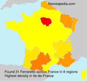 Surname Ferraretto in France