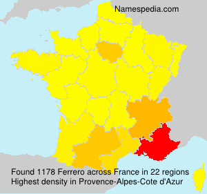 Surname Ferrero in France