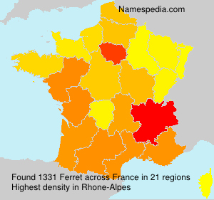 Surname Ferret in France