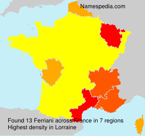 Surname Ferriani in France