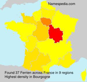 Surname Ferrien in France