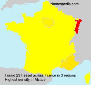 Surname Fessel in France