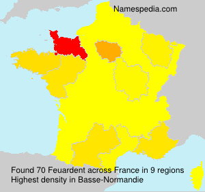 Surname Feuardent in France