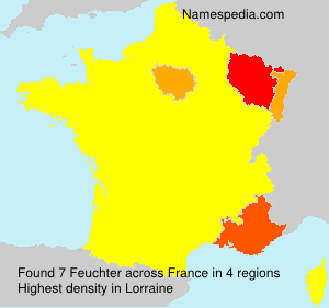 Surname Feuchter in France