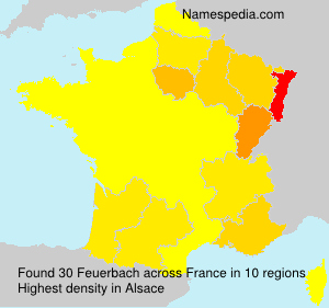 Surname Feuerbach in France