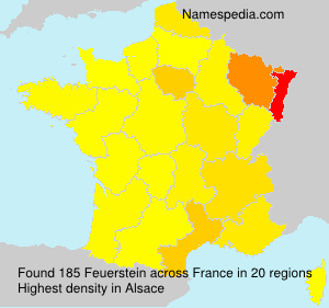 Surname Feuerstein in France