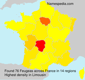 Surname Feugeas in France