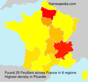 Surname Feuillant in France