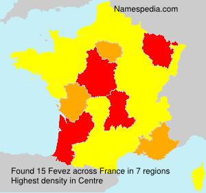 Surname Fevez in France