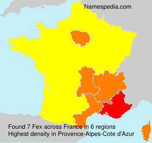 Surname Fex in France
