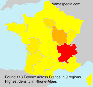Surname Feyeux in France