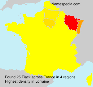 Surname Fiack in France