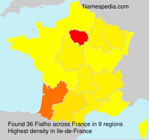 Surname Fialho in France