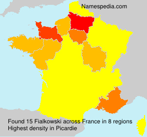 Surname Fialkowski in France
