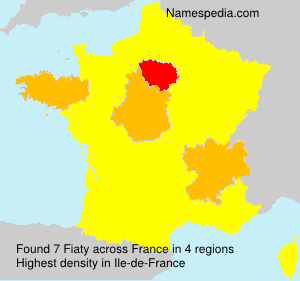 Surname Fiaty in France