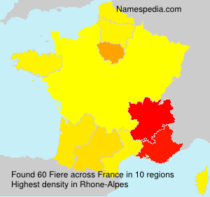 Surname Fiere in France