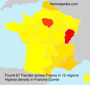 Surname Fierobe in France