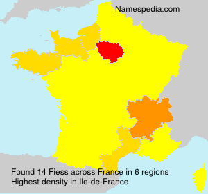 Surname Fiess in France