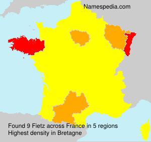 Surname Fietz in France