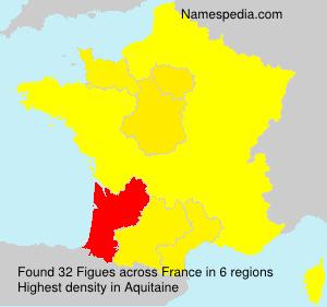Familiennamen Figues - France