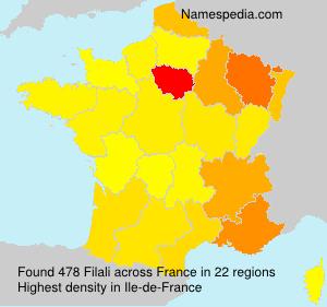 Surname Filali in France