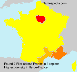 Surname Filer in France