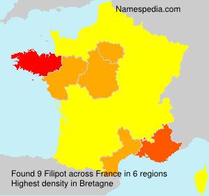 Familiennamen Filipot - France
