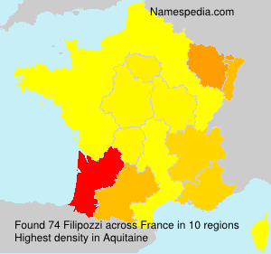 Surname Filipozzi in France
