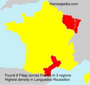 Familiennamen Filipp - France