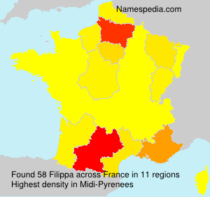 Surname Filippa in France