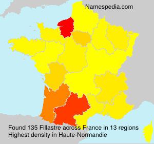 Surname Fillastre in France
