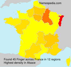 Surname Finger in France