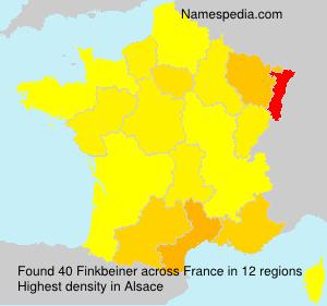 Familiennamen Finkbeiner - France