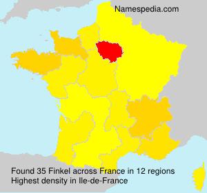 Surname Finkel in France