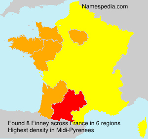 Surname Finney in France