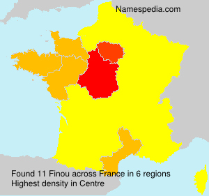 Surname Finou in France