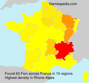 Surname Fion in France