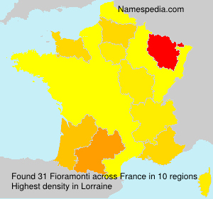 Surname Fioramonti in France