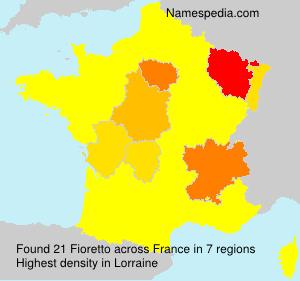 Surname Fioretto in France