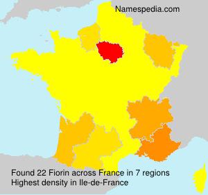 Familiennamen Fiorin - France
