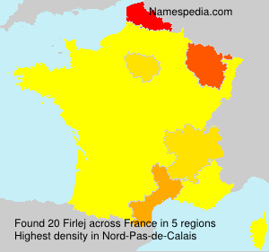 Surname Firlej in France