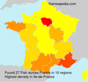 Surname Fish in France